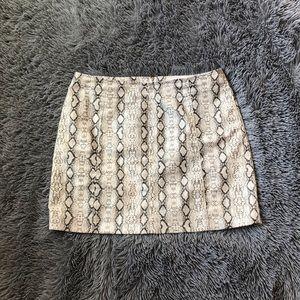 Dry Goods Newbury Kustom Faux Snake Print Skirt
